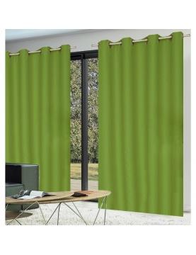 Paire de rideaux occultants coloris vert