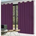 Paire de rideaux occultants coloris violet (Violet)