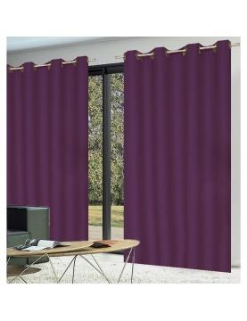 Paire de rideaux occultants coloris violet