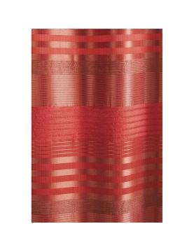 Fertigvorhang aus Seidentaft mit unterschieldichen horizontalischen Streifen