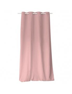 Rideau coloré en pur coton 8 œillets