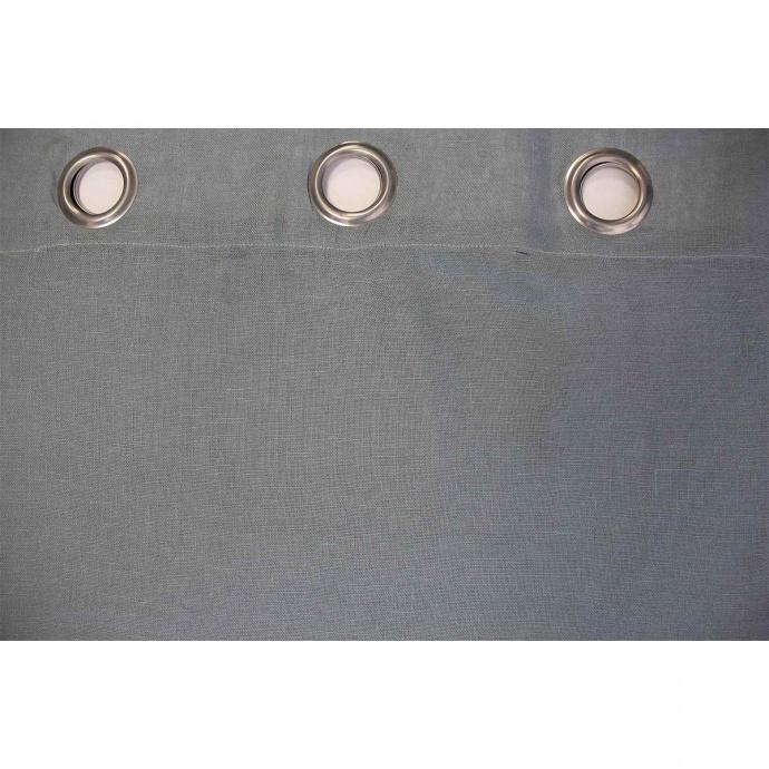 Rideau Léger et Uni en 100% Lin (Blue Stone)