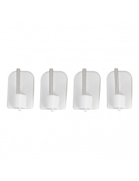4 Fijaciones Adhesivas Plástico (Blanco)