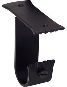 Support Plafond en Fer Forgé Noir