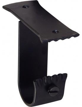 Paire de Supports Plafond en Fer Forgé Noir diam 28mm