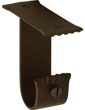 Paire de supports Plafond en Fer Forgé Rouille diam 28 mm