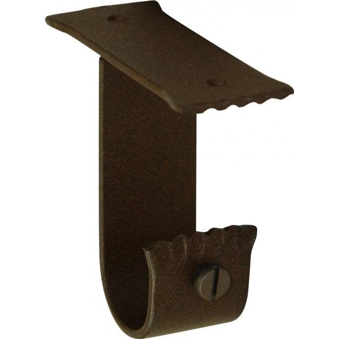 Paire de supports Plafond en Fer Forgé Rouille diam 28 mm (Rouille)