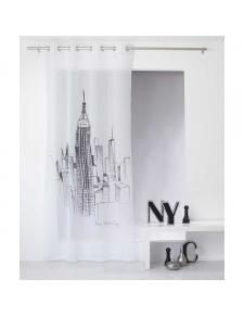 Voilage sablé imprimé New York