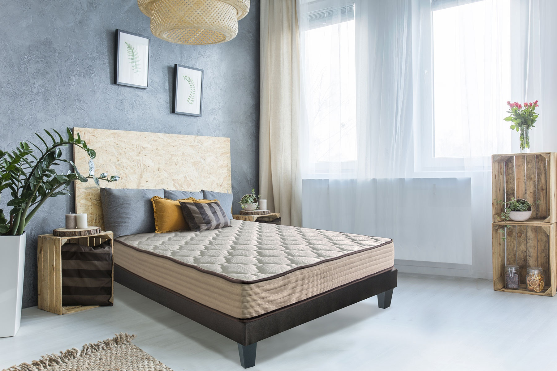 Matelas Standard et Confortable (Blanc)