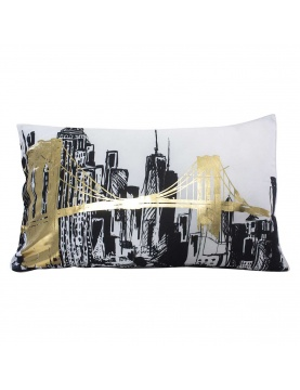 Coussin rectangulaire non déhoussable imprimé New York