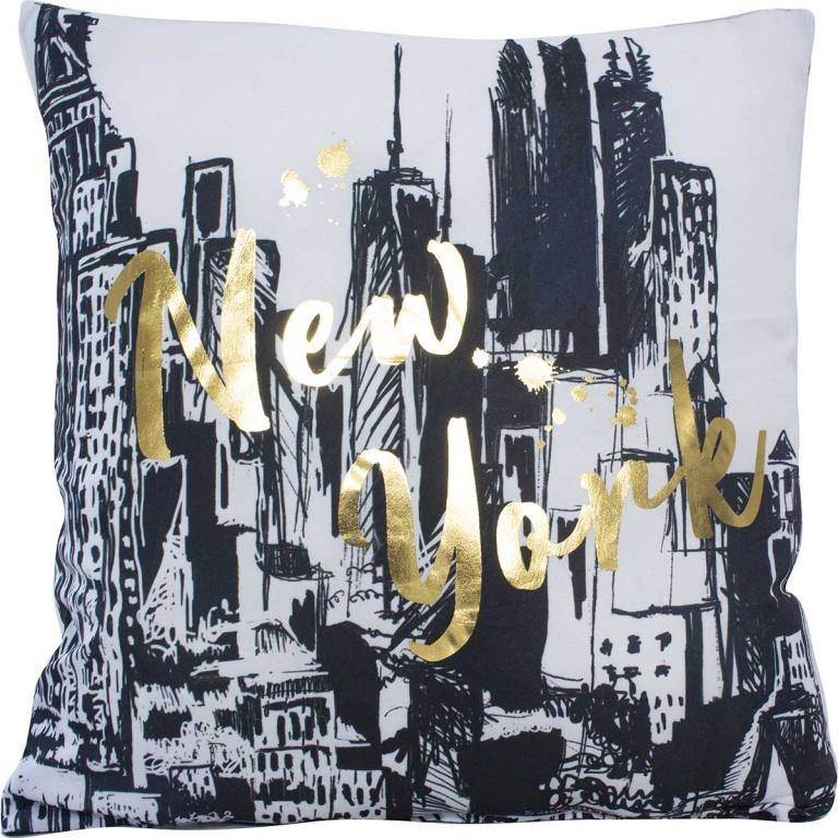 Coussin non déhoussable imprimé New York,