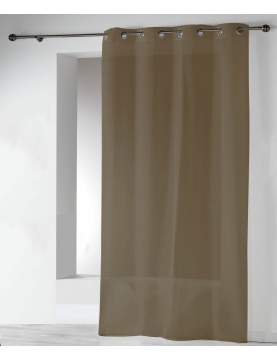 Gardine aus Etamine einfarbig mit Ösen