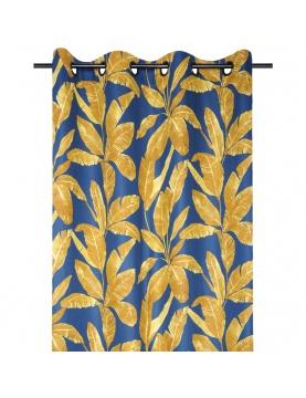 Rideau tamisant motif feuilles exotiques