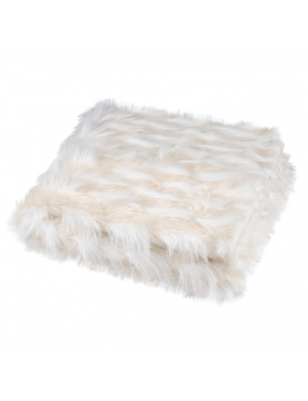 Plaid en fourrure polaire blanche