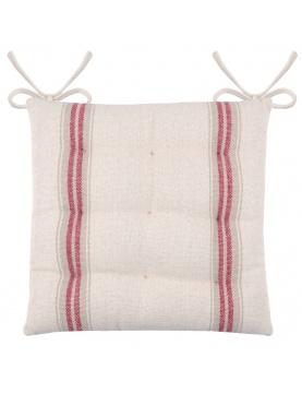 Galette de chaise à effet tapissier d'antan