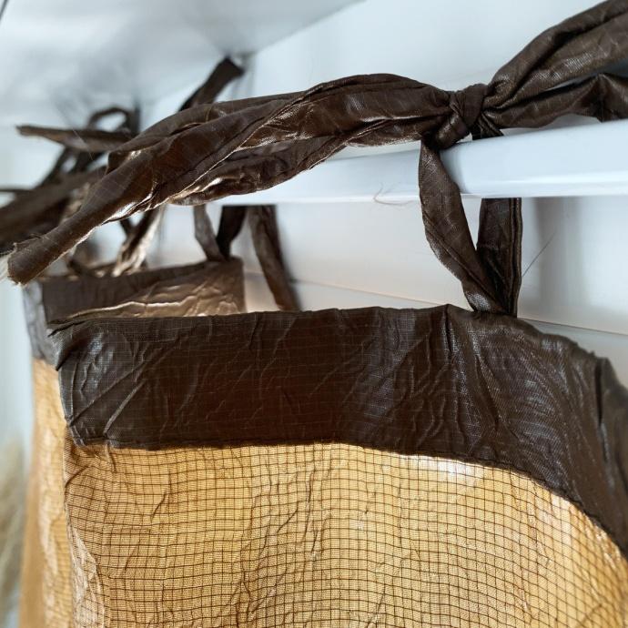Rideau à nouettes aspect froissé  (Chocolat)