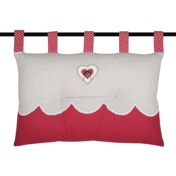 Tête de lit rouge