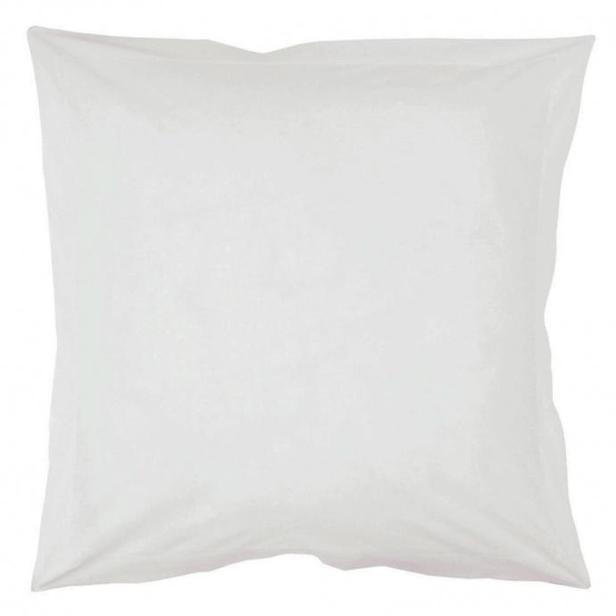 Taie d'oreiller recouvrement ton sur ton 65 x 65 cm (Blanc)