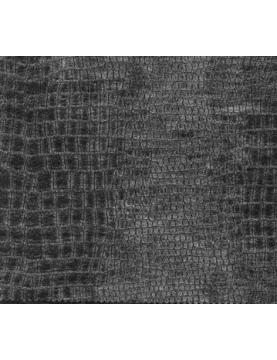 Tissu Effet Peau de Croco Simili Cuir  (Gris)