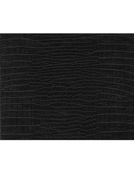 Tissu Effet Peau de Croco Simili Cuir  (Noir)