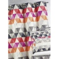 Rideau ameublement Jacquard 'triangles' (Bambou)
