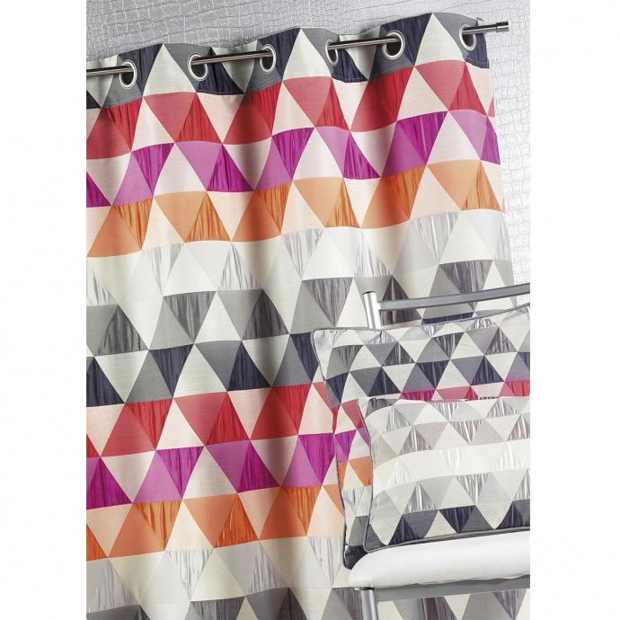 Rideau ameublement Jacquard 'triangles' (Bambou)