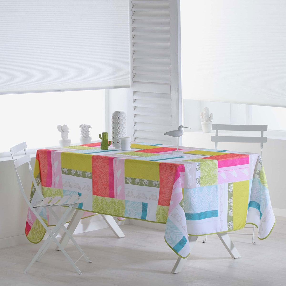 Nappe Rectangulaire Colorée et Imprimée (Multicolore)