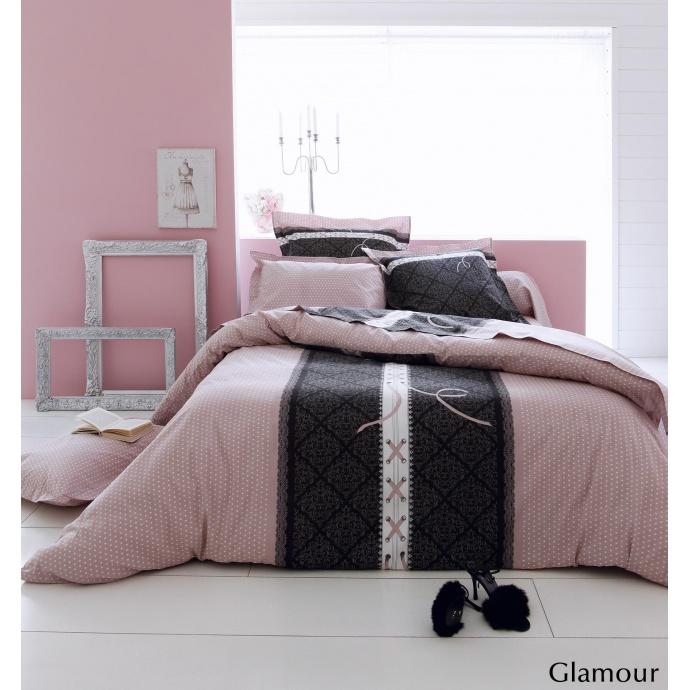 Parure housse de couette Glamour (Rose)