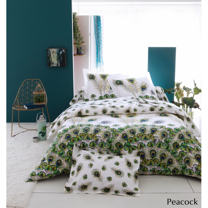 Parure Peacock (blanc / vert)