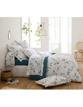 Parure de lit imprimée fleurs en aquarelle