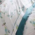Parure de draps 5 pièces imprimée de fleurs en aquarelle (Blanc)