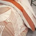 Parure de couette au feuillage léger (Terracotta)