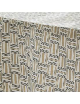 Mantel ovalado con motivos geométricos