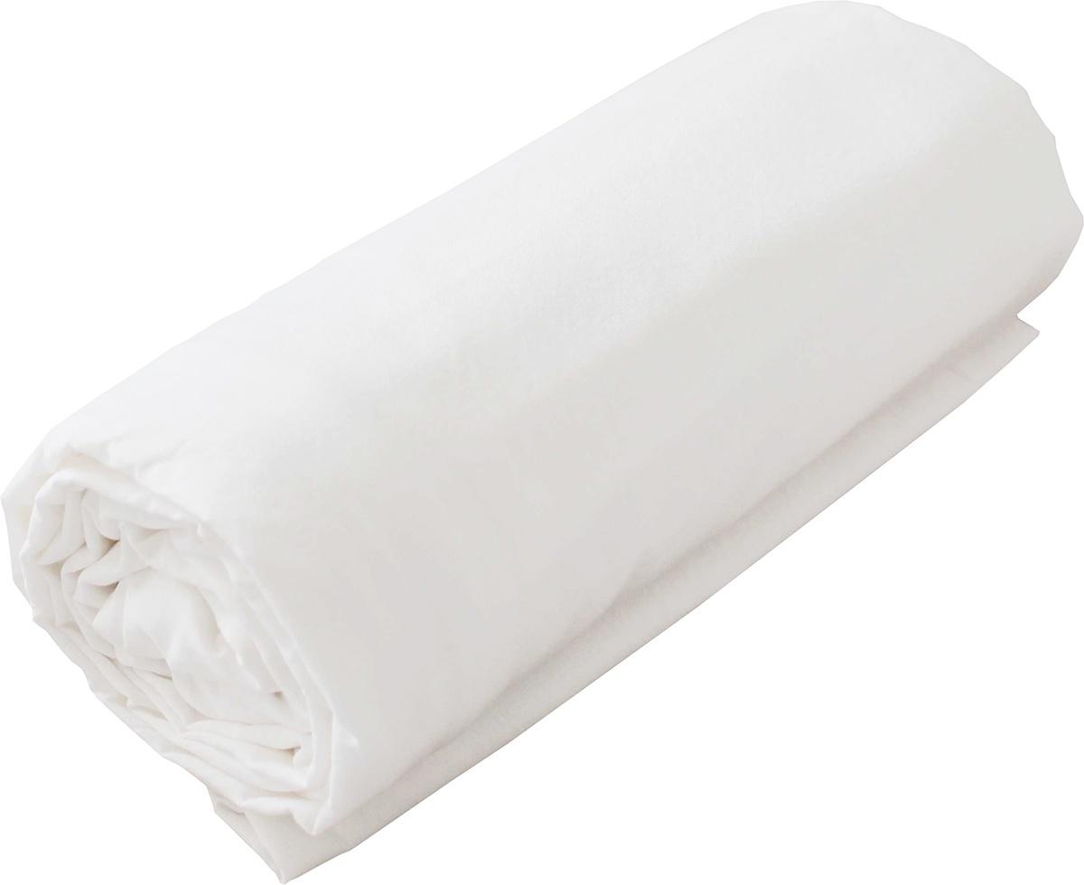 Drap Housse Jersey Uni en 100% Coton (Blanc)