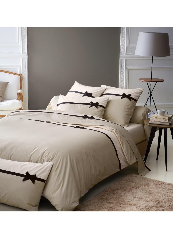taie de traversin frou frou lin noeud lin homemaison vente en ligne housses de traversins. Black Bedroom Furniture Sets. Home Design Ideas