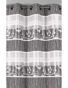 Rideau en jacquard à rayures horizontales colorées
