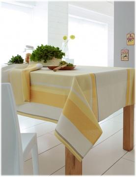Mantel rectangular de jacquard a rayas