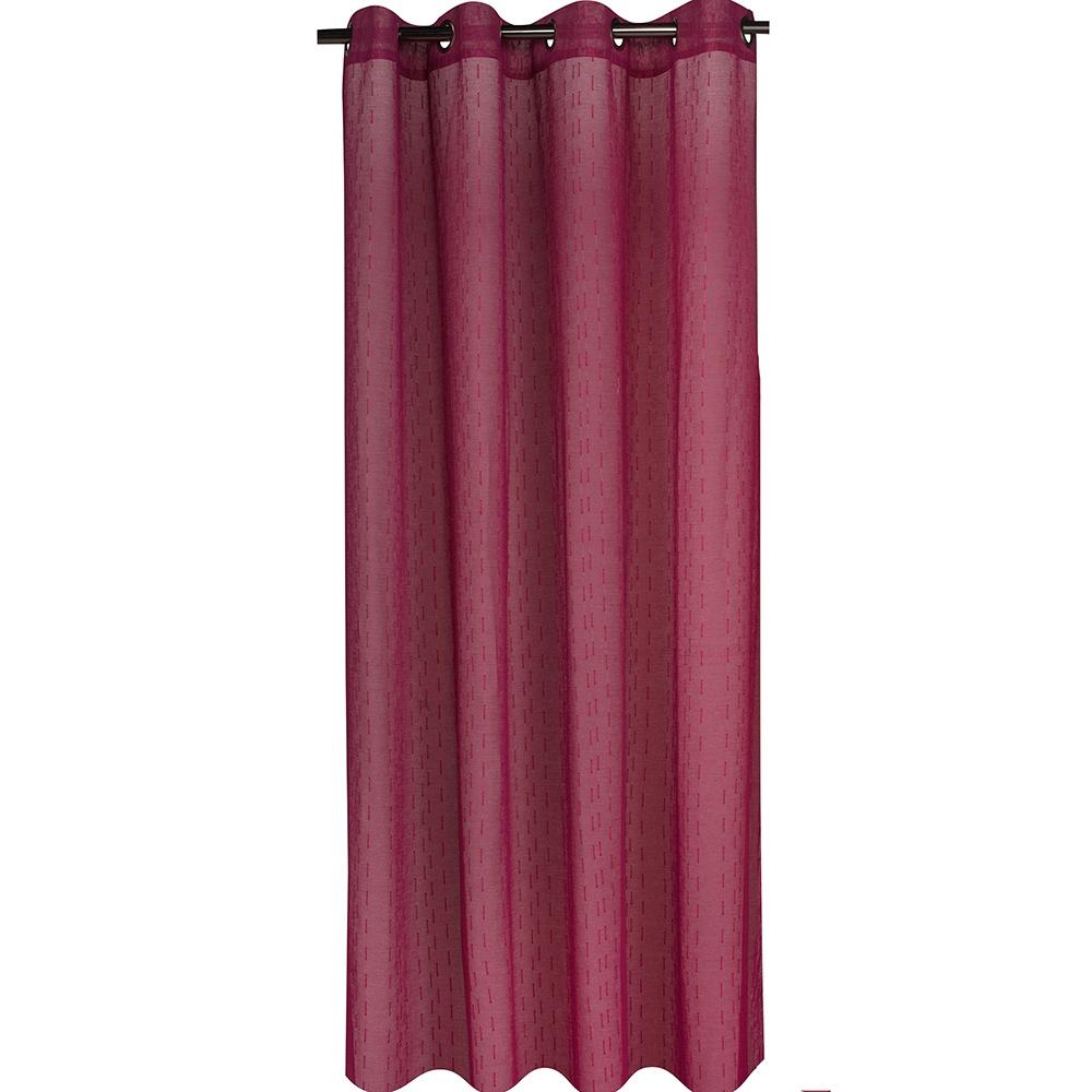 Voilage jacquard avec motifs bâtonnets (Violet)