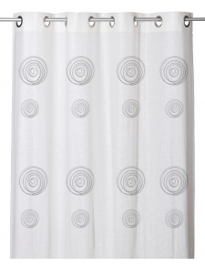 Voilage Effet Etamine de Lin à Imprimés Spirales