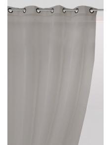 Voilage uni en polyester et lin