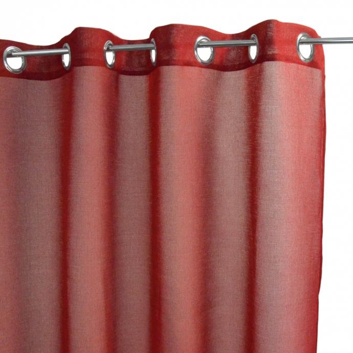 Voilage Uni (Rouge)