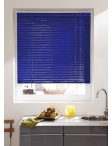 Store Vénitien en Lames de 25 mm en Aluminium (Bleu)