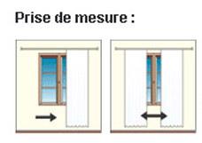 Prise de mesure des rideaux