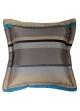 Coussin Bouchara en jacquard à rayures horizontales design  Bleu