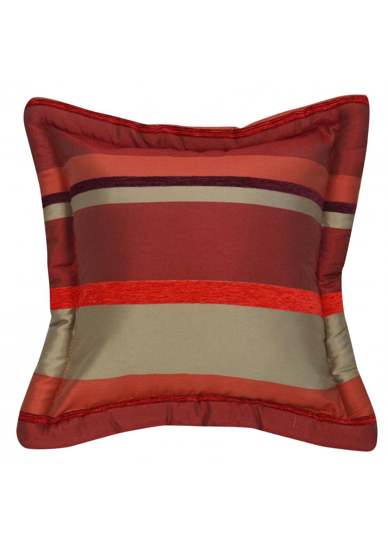 Coussin Bouchara en jacquard à rayures horizontales design (Gris)