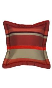 Coussin Bouchara en jacquard à rayures horizontales design