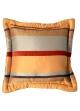 Coussin Bouchara en jacquard à rayures horizontales design  Terracota