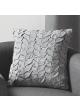 Coussin en toile de coton et jeu de plis gris Gris