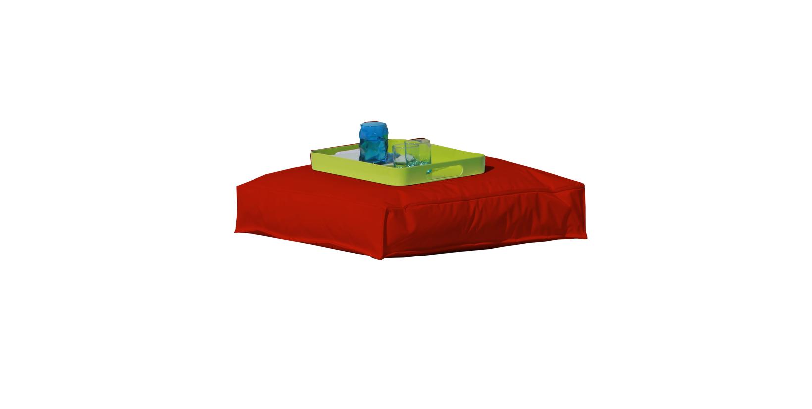 coussin de sol rouge inter exter rouge homemaison. Black Bedroom Furniture Sets. Home Design Ideas
