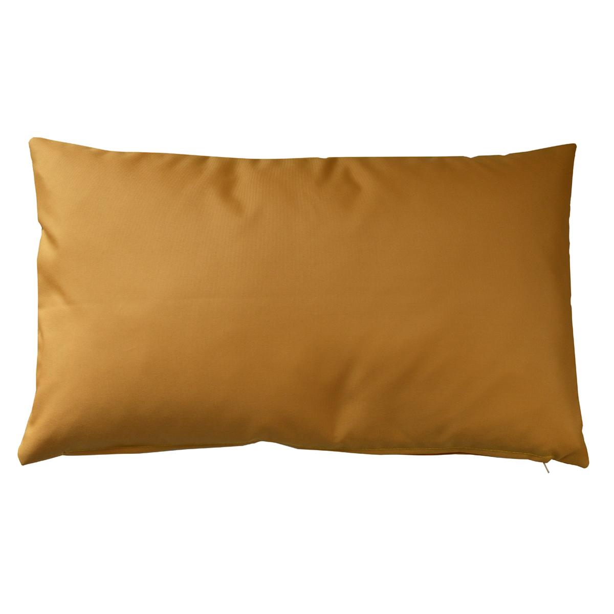 Housse de coussin d'extérieur en tissu outdoor (Moutarde)